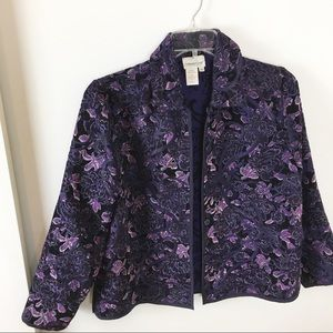 Cold Water Creek Purple/Mauve Jacket size PS.
